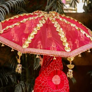 indian bridal parasol